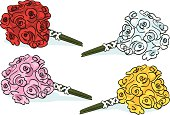 4 different rose bouquets