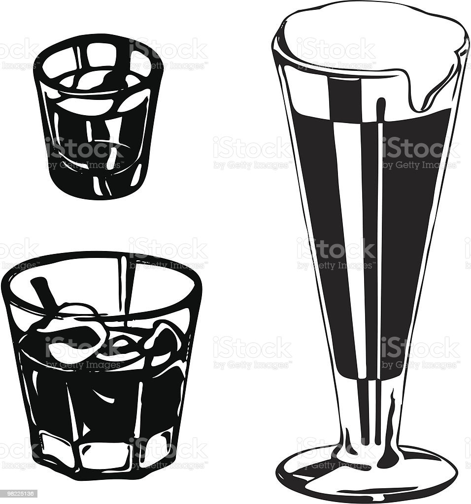 Bourbon, Scotch, Beer royalty-free bourbon scotch beer stock vector art & more images of alcohol