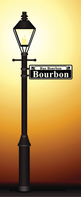 Bourbon Street Glowing Lamp Post