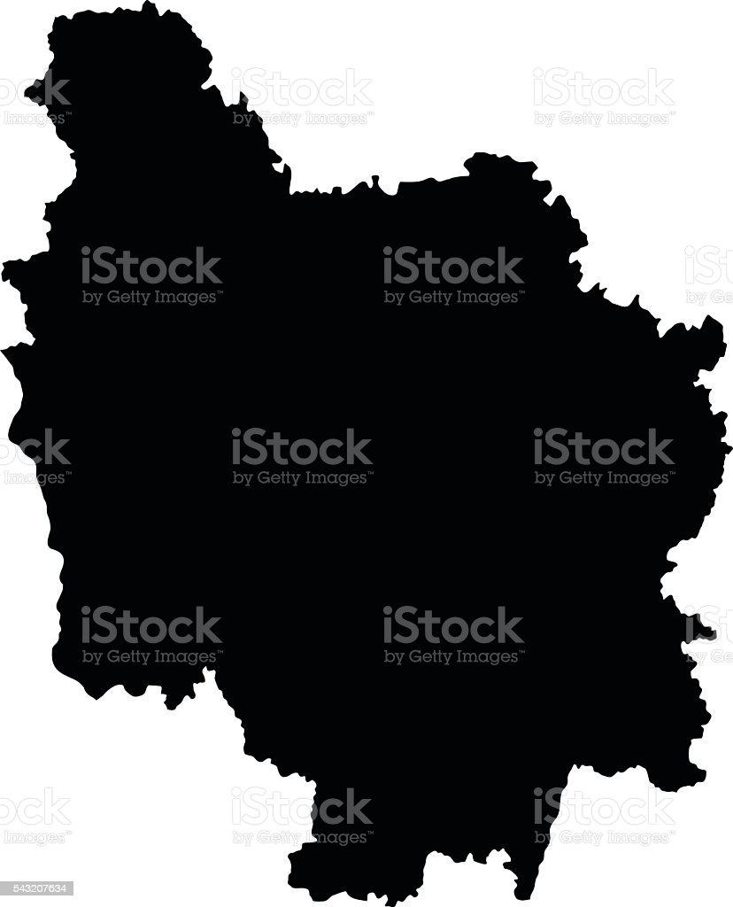 Carte Bourgogne Blanc.Bourgogne Black Map On White Background Vector Stock Vector Art
