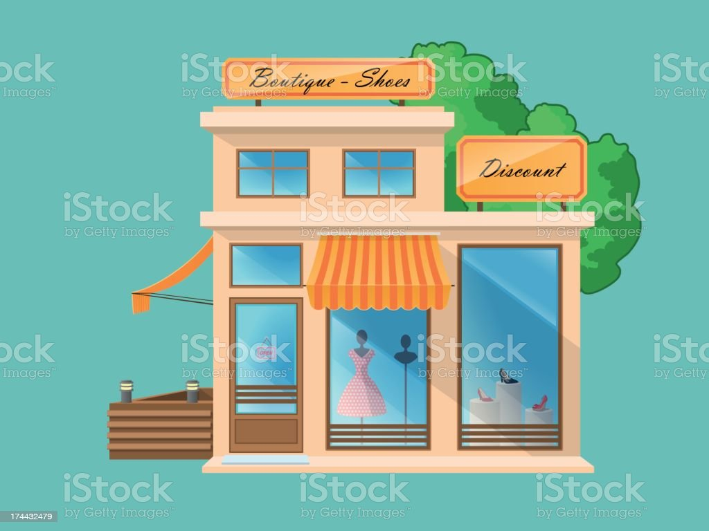 Boutique and Shoe Store royalty-free stock vector art