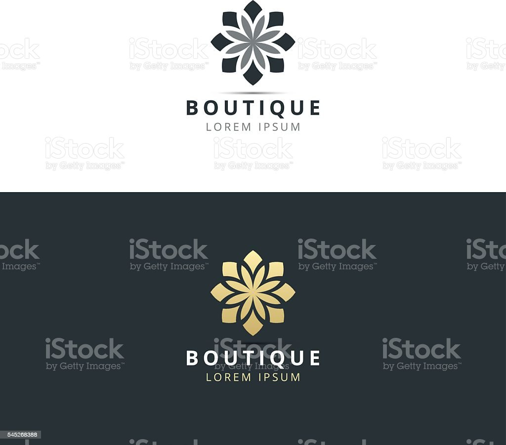 boutique logo design vector vector art illustration