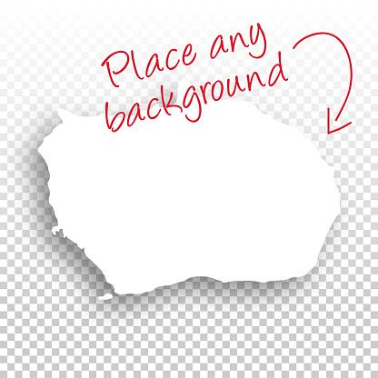Bouvet Island Map for design - Blank Background