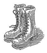 Bovver Boots Drawing