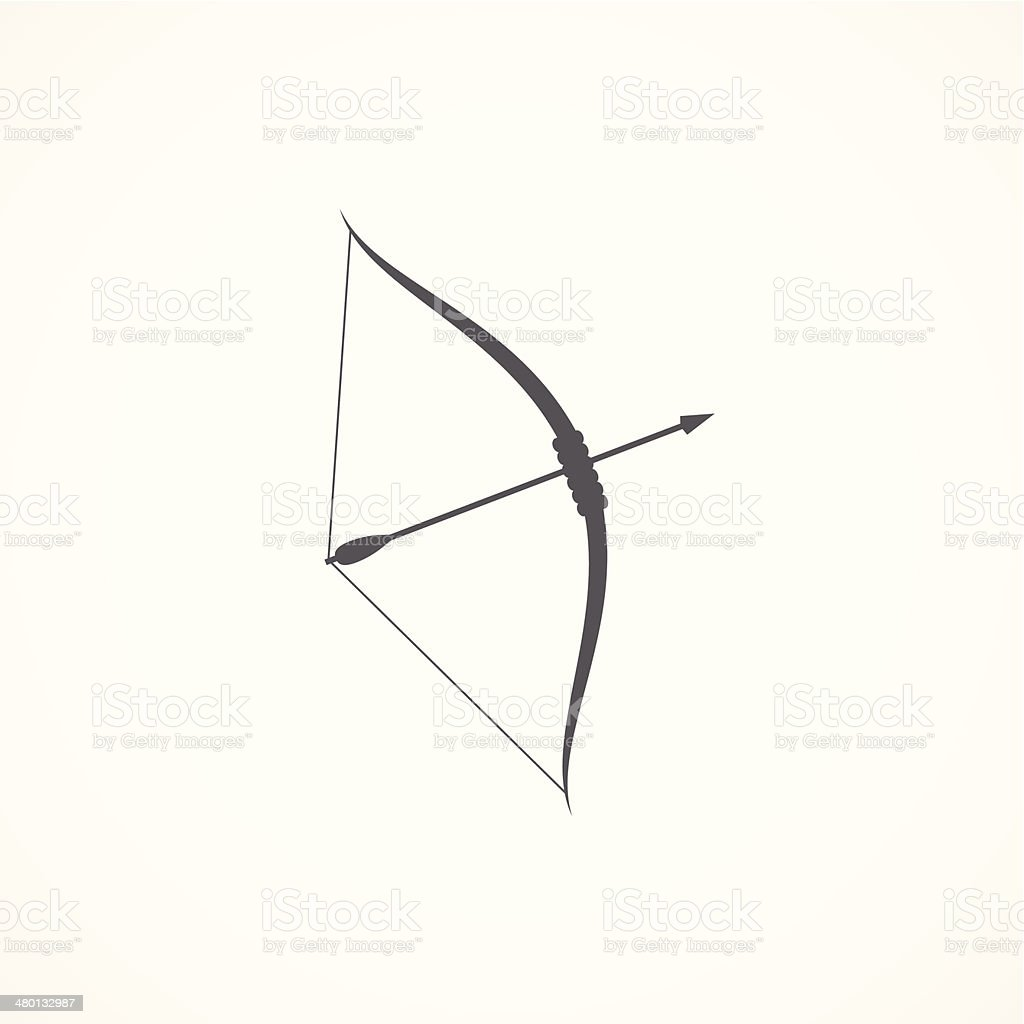 Bow and arrow icon vector art illustration
