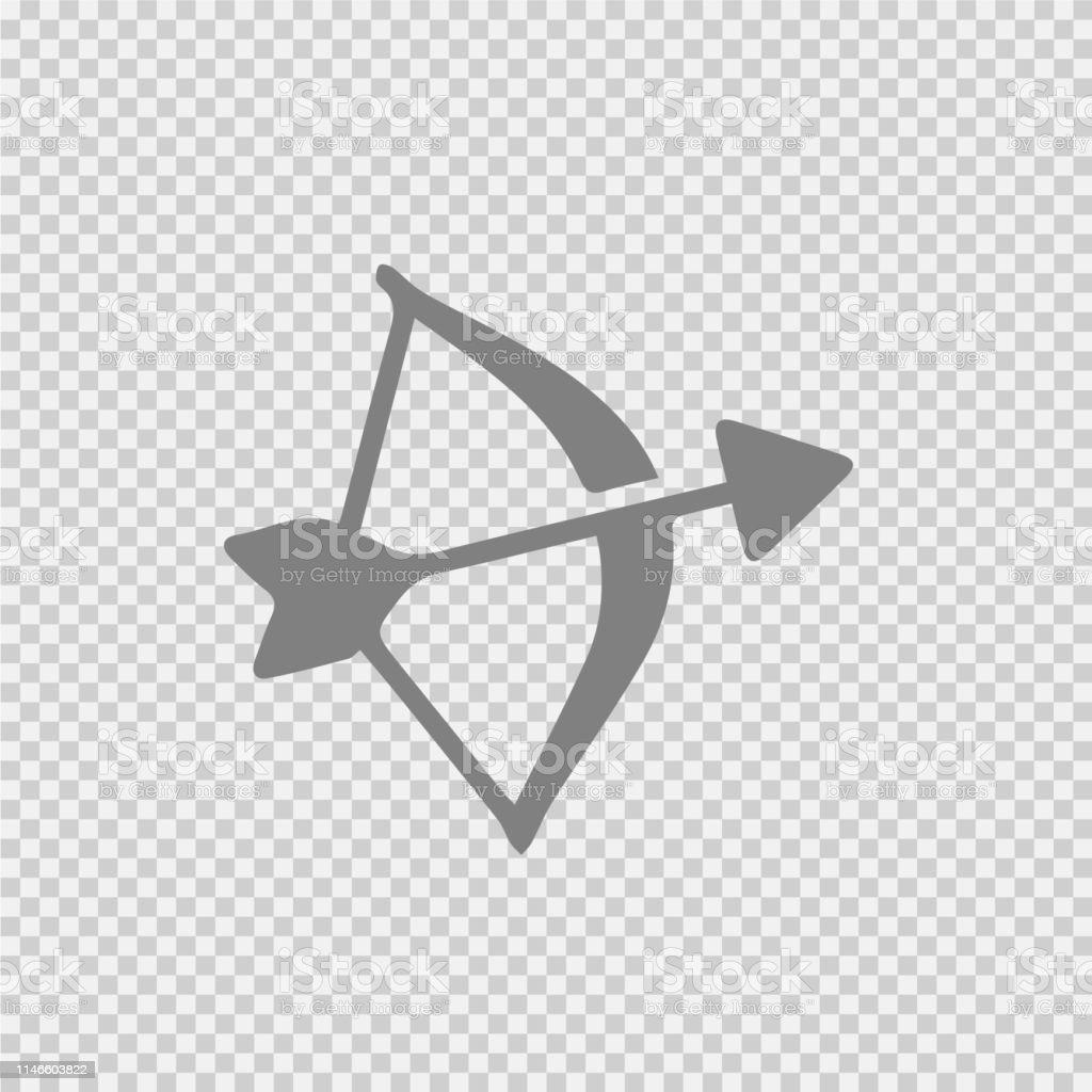 Bow and arrow vector icon eps 10.