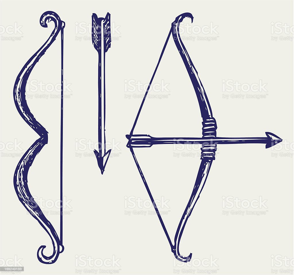 Bow And Arrow Stock Vector Art & More Images of Abstract ...