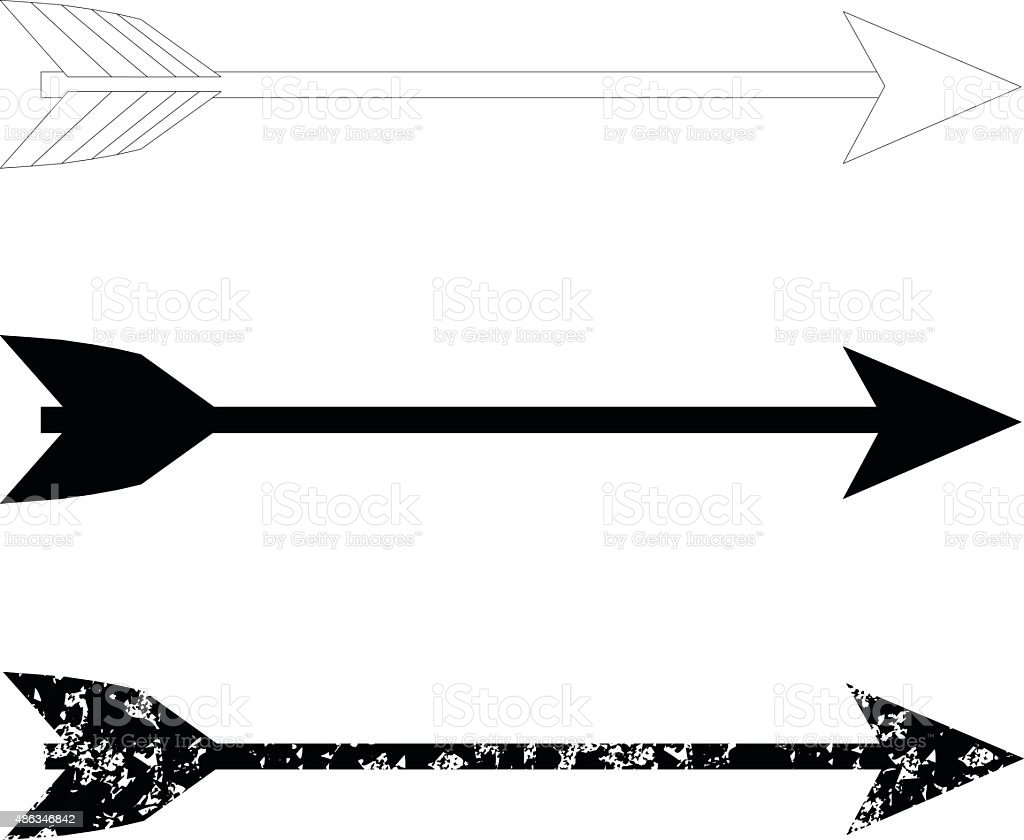 bow arrows stock vector art more images of 2015 486346842 istock rh istockphoto com vector arrows physics vector arrows latex