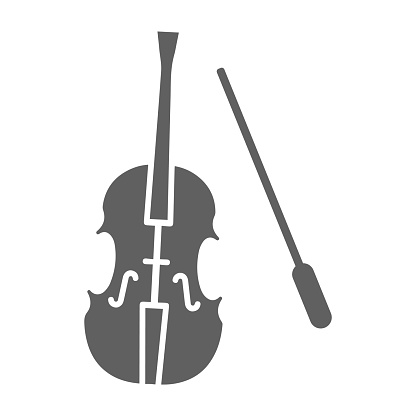 Bow, classical, instrument, music, violin icon