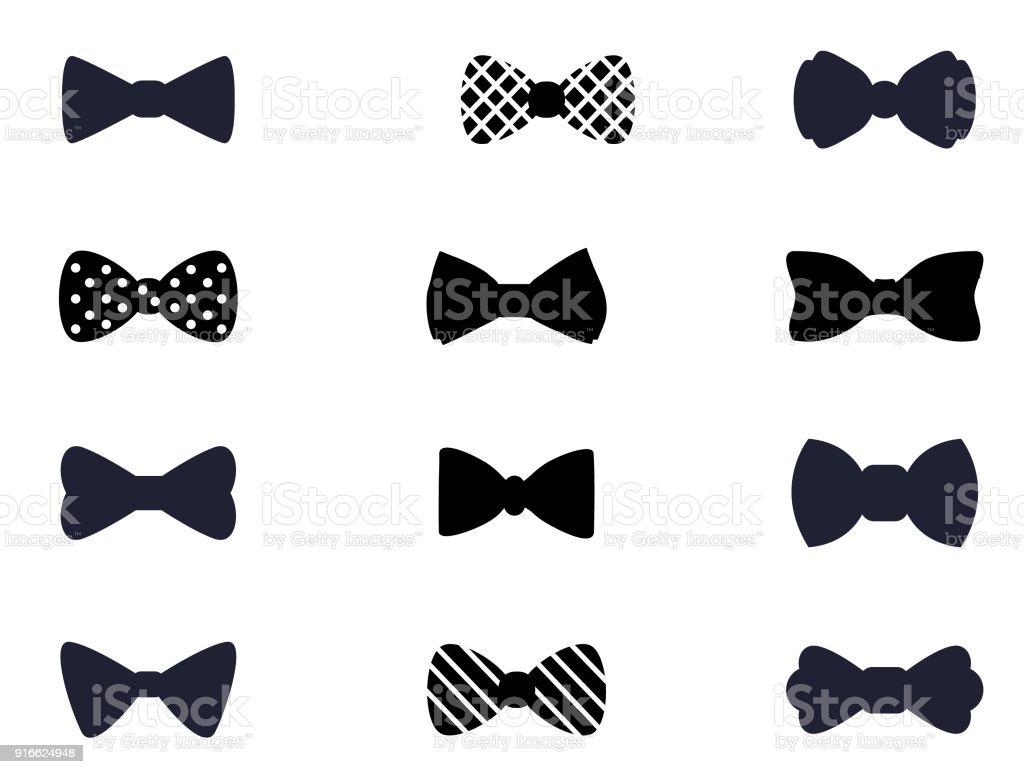 Bow icon collection vector art illustration