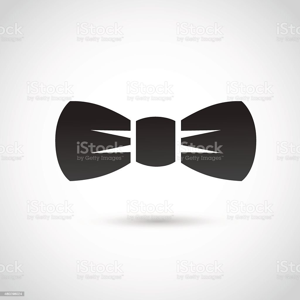 Bow icon isolated on white background. vector art illustration