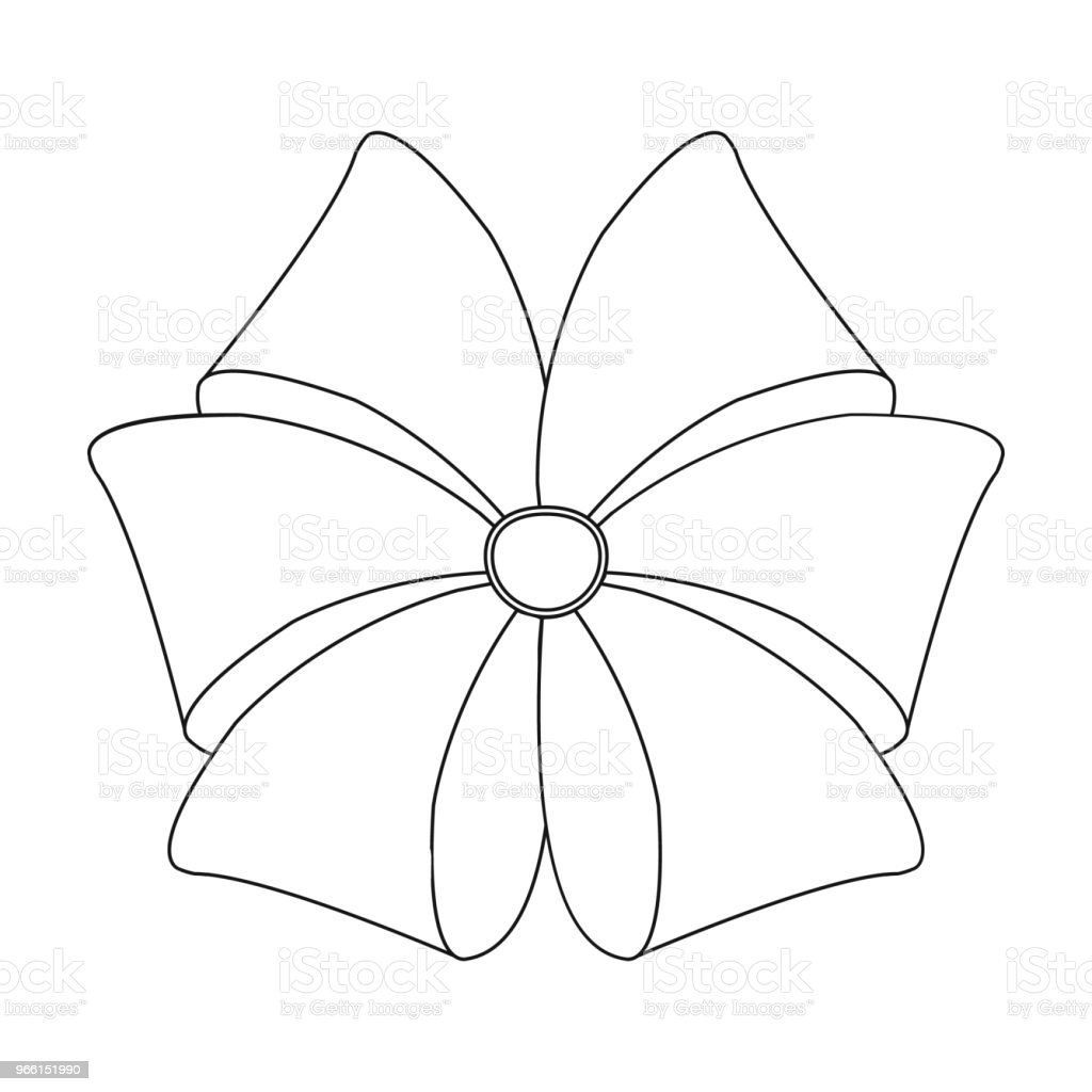 Bow, lint, decoratie en andere web-pictogram in kaderstijl. Textiel, decor, geschenk, pictogrammen in set-collectie. - Royalty-free Bloem - Plant vectorkunst