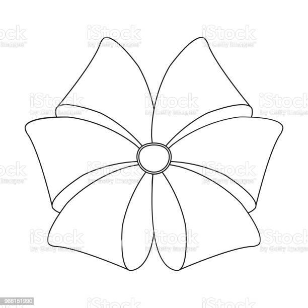 Bow Lint Decoratie En Andere Webpictogram In Kaderstijl Textiel Decor Geschenk Pictogrammen In Setcollectie Stockvectorkunst en meer beelden van Bloem - Plant
