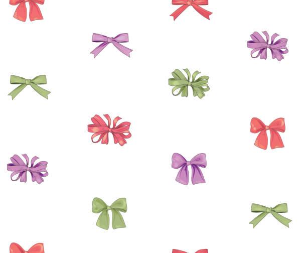 bow musterdesign. mädchenhafte mode weißen hintergrund. urlaub - hochzeitsanstecker stock-grafiken, -clipart, -cartoons und -symbole
