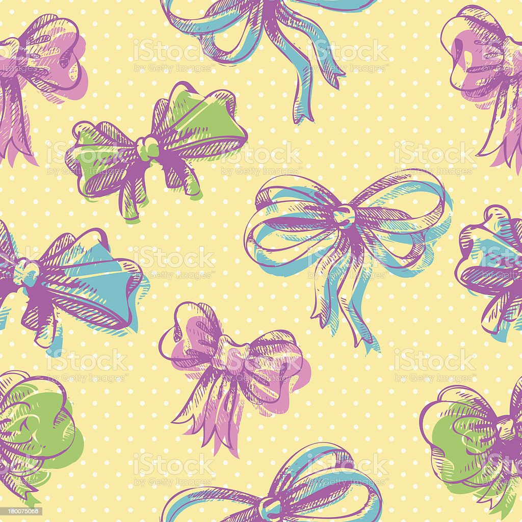 Bow seamless pattern royalty-free stock vector art