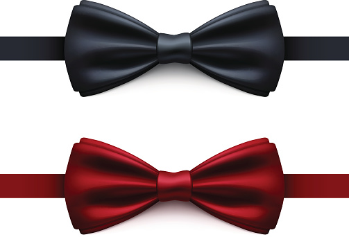 Bow Tie Black and Red