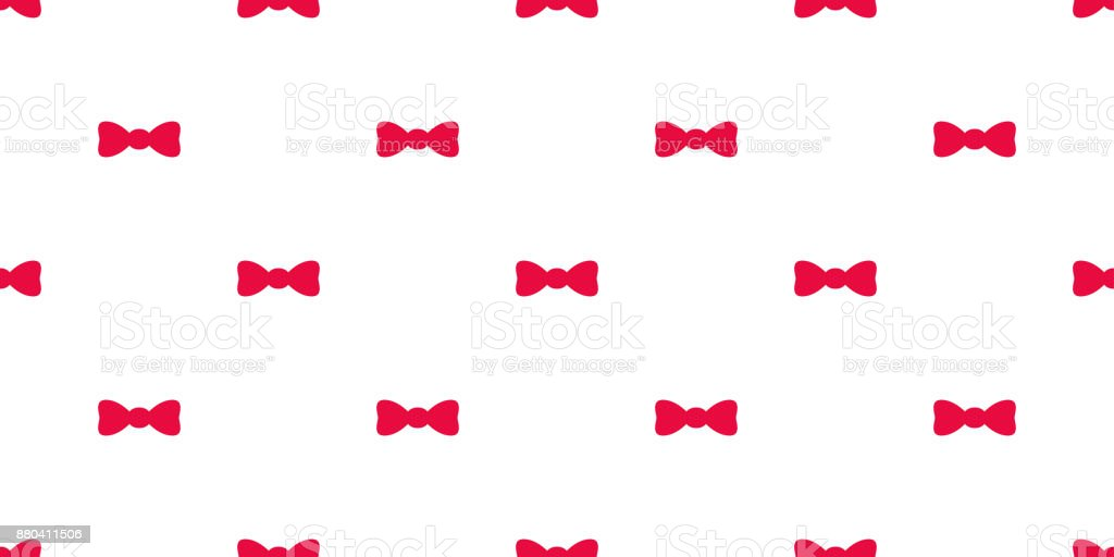 Bow Tie Gift Vector Seamless Pattern Wallpaper Background Royalty Free