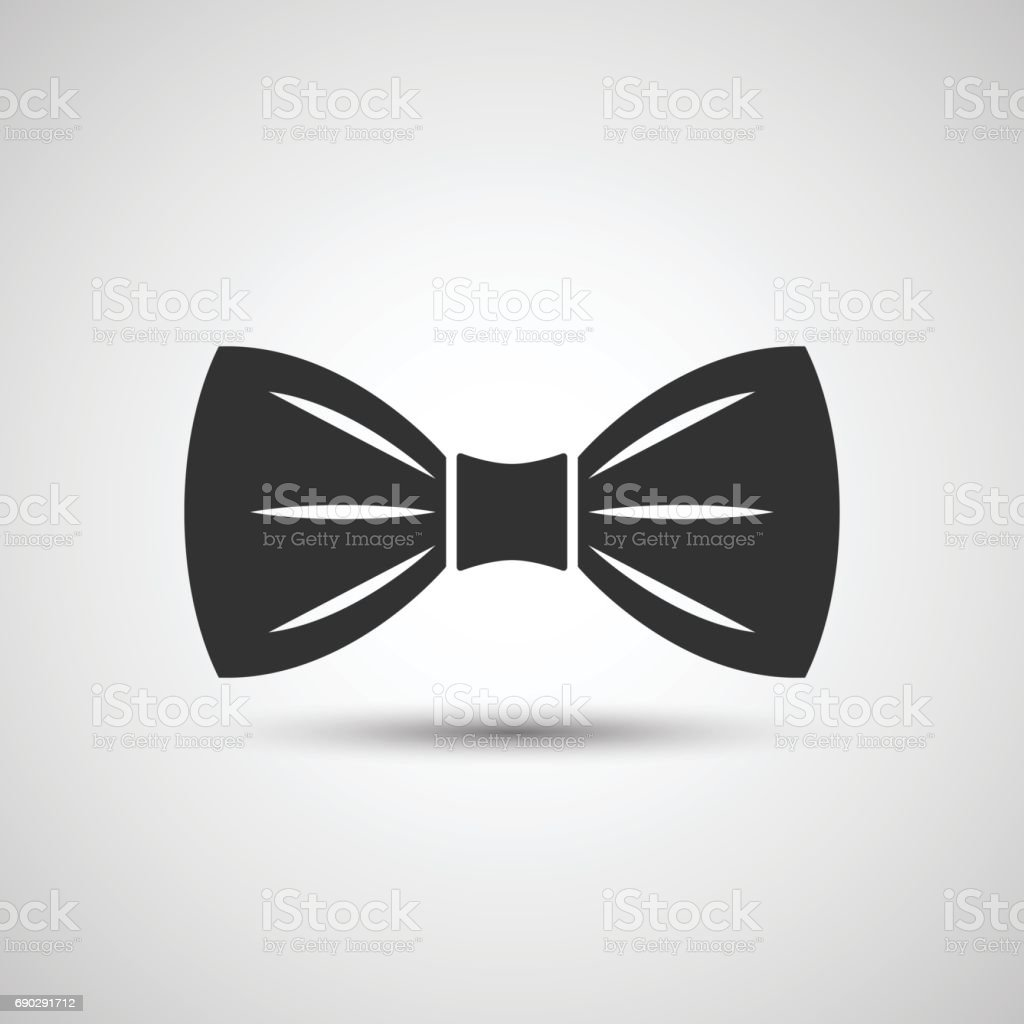 Bow tie icon vector art illustration