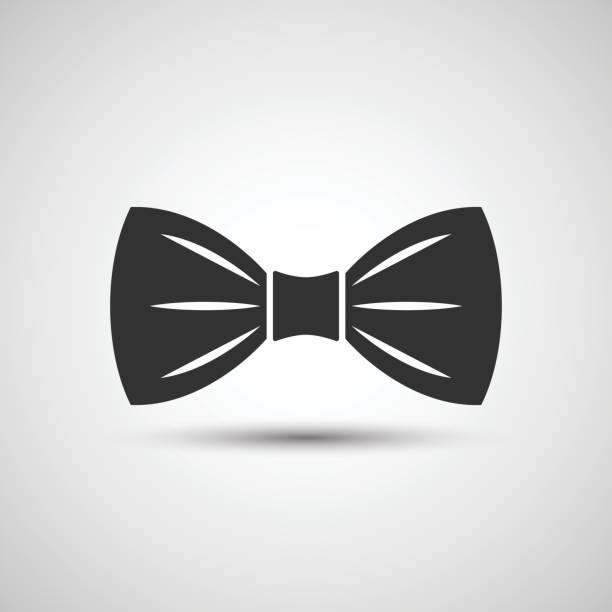 bow tie icon - black tie events stock illustrations, clip art, cartoons, & icons