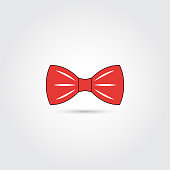 Bow tie icon, vector