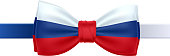 Bow tie with Russian flag vector illustration.