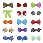 Bow Ties Set for Celebration and Party