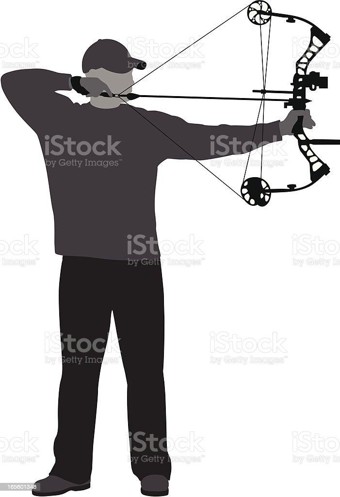 bow-hunter at full draw royalty-free bowhunter at full draw stock vector art & more images of aiming