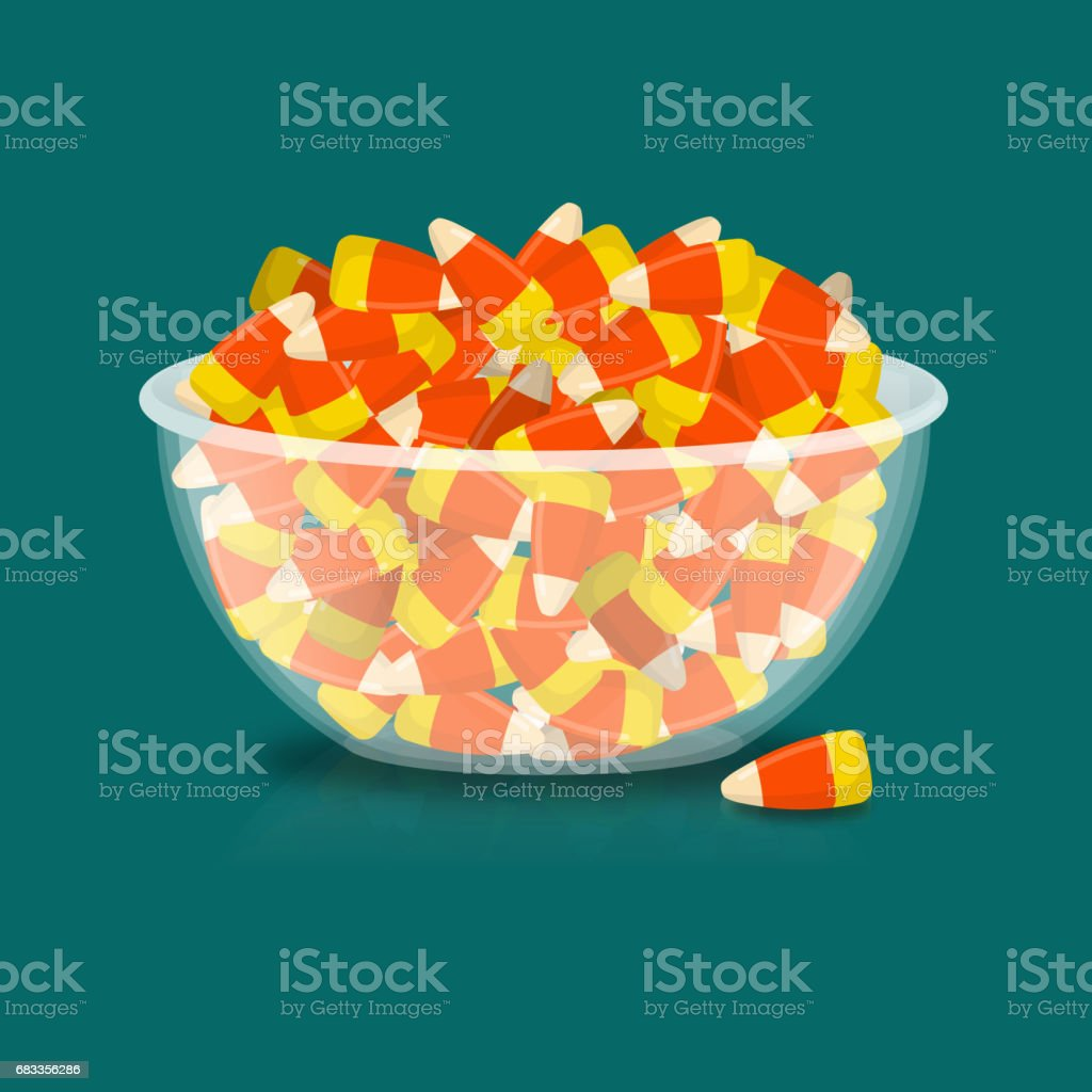 Halloween Traktaties.Kom En Candy Corn Snoep Op Plaat Traditionele Traktaties