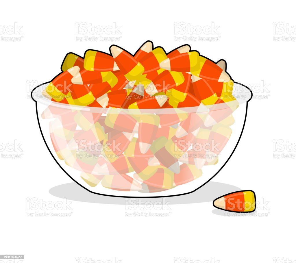 Royalty Free Halloween Candy Bowl Clip Art, Vector Images ...
