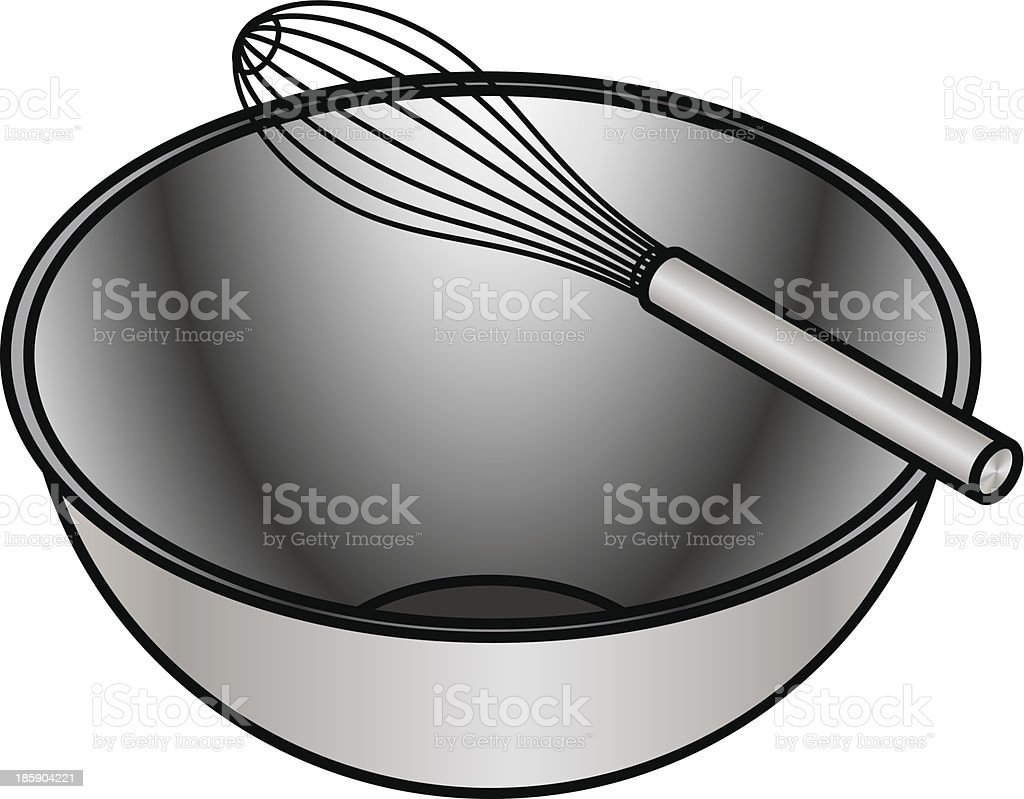 Bowl and Whisk royalty-free stock vector art