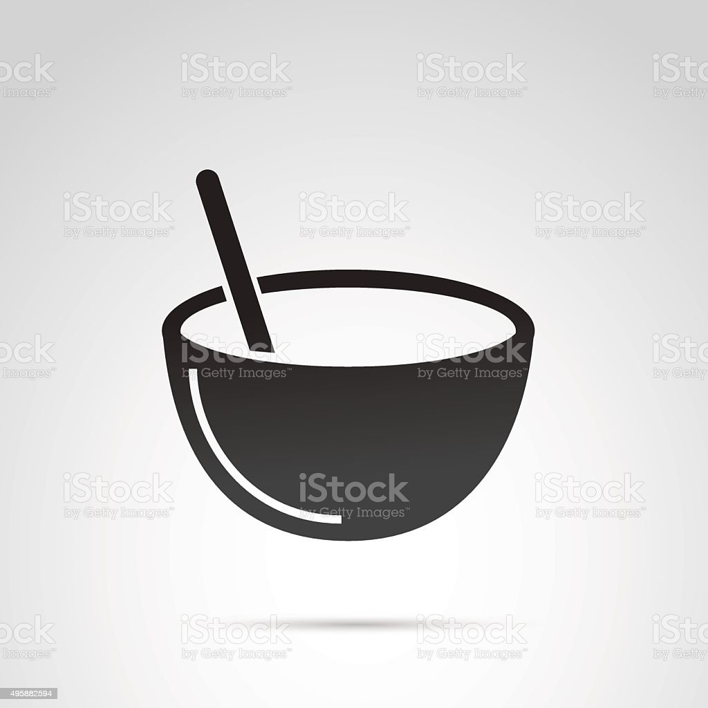 Bowl icon isolated on white background. vector art illustration