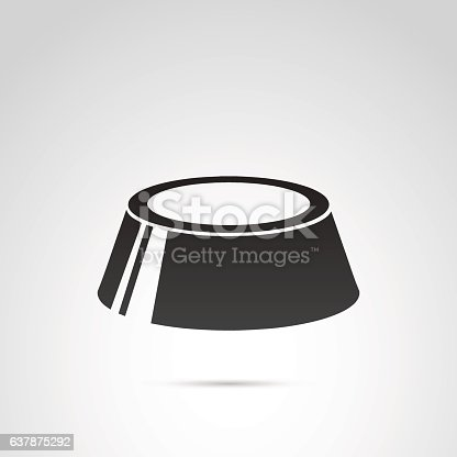 istock Bowl icon vector. 637875292