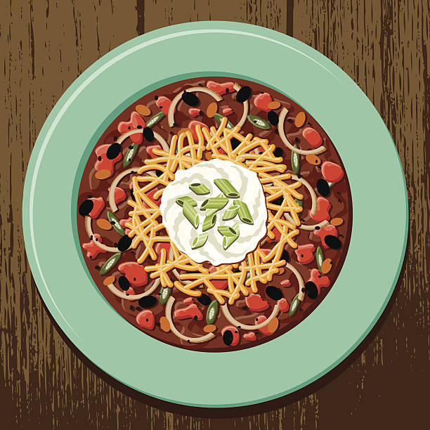 bowl von hot chili - chilli stock-grafiken, -clipart, -cartoons und -symbole