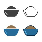 Bowl Of Powder Icon Vector EPS File.