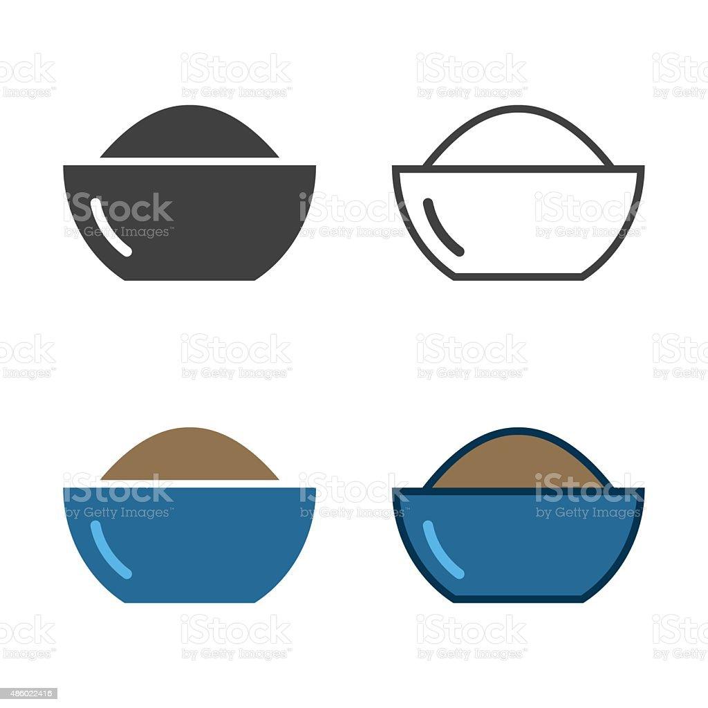 Bowl Of Powder Icon vector art illustration
