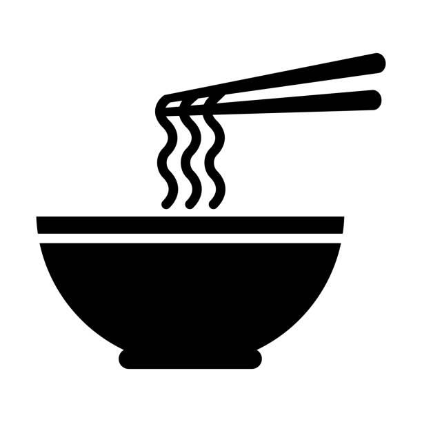 ラーメン アイコンのボウル - ラーメン点のイラスト素材/クリップアート素材/マンガ素材/アイコン素材