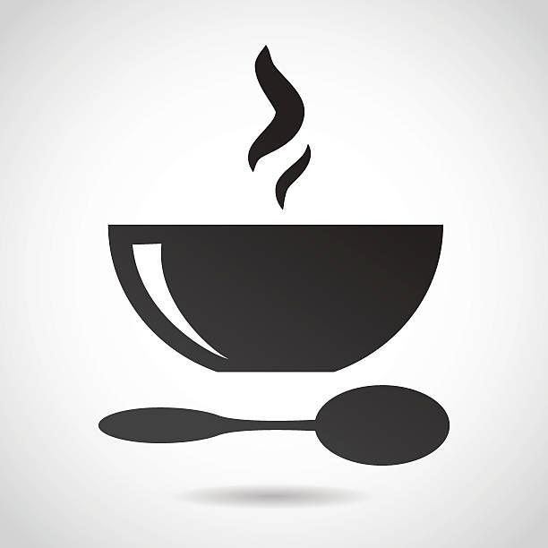 ilustrações de stock, clip art, desenhos animados e ícones de tigela de sopa ícone. - tigela