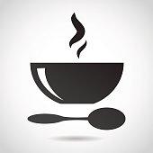 Bowl of soup icon.