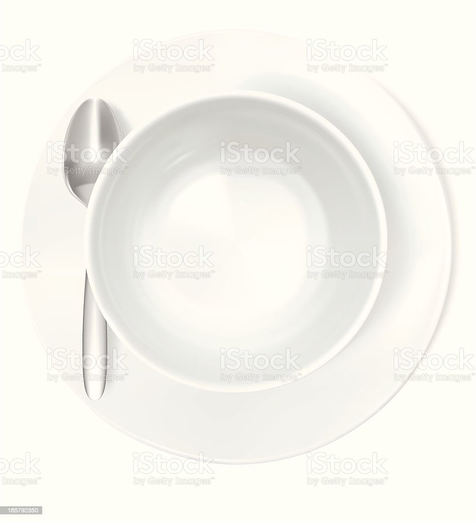 Bowl - Vector Illustration vector art illustration