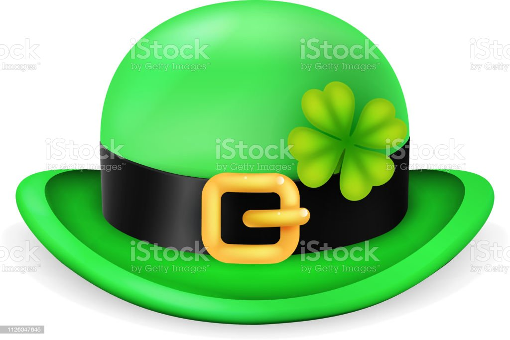 635db1bb Bowler hat saint patrick day ireland feast 3d isolated vintage design vector  illustration royalty-free