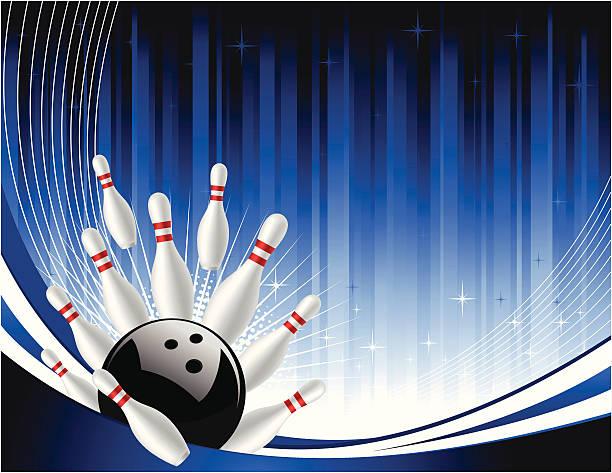 Bowling background vector art illustration