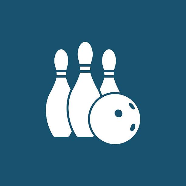 Bowling ball and pins vector art illustration