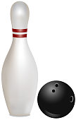 Bowling Ball And Skittle is separate  layered and easy to edit