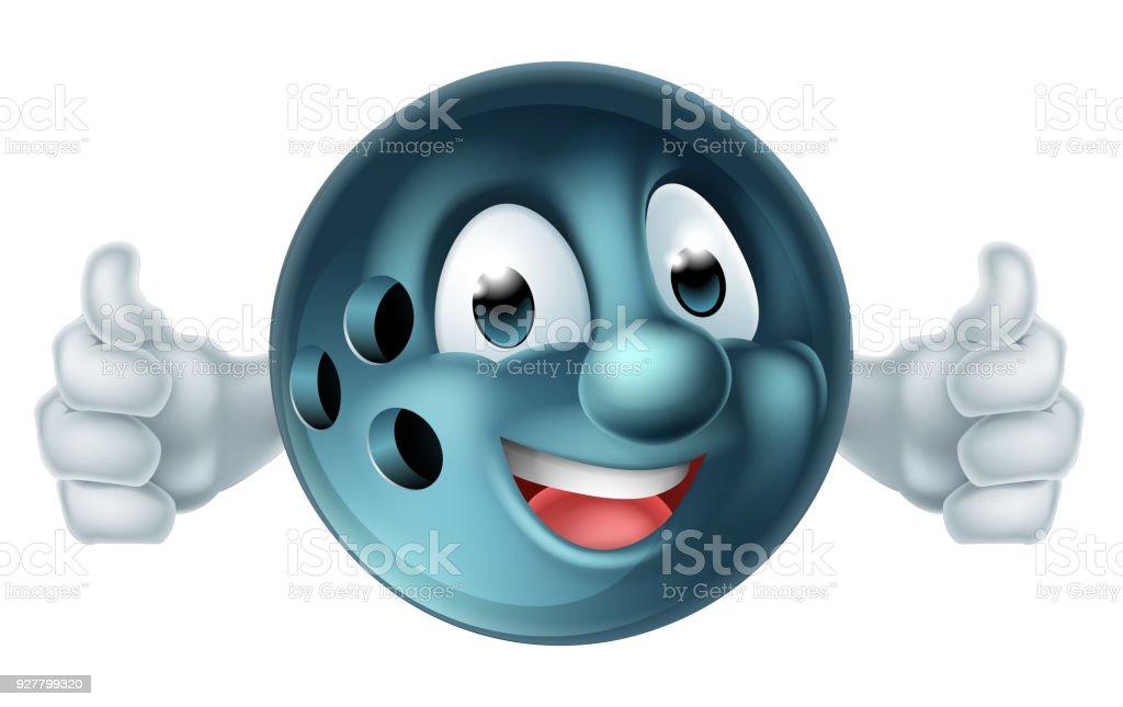 Bowling Ball Cartoon Person vector art illustration