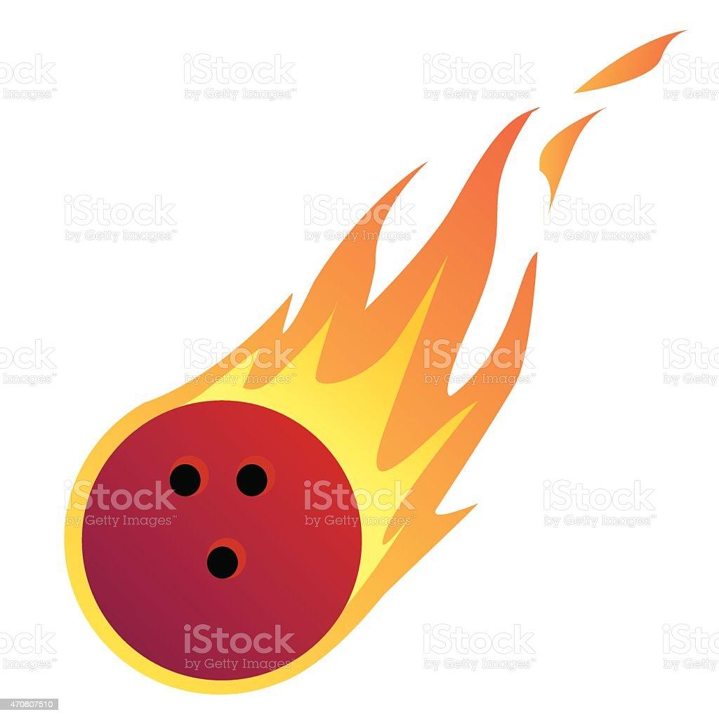 Bowling Ball in Feuer – Vektorgrafik