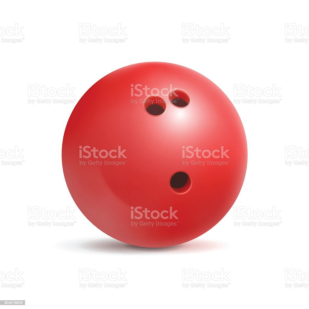Bowling ball. Sport equipment for game. Leisure and fun. – Vektorgrafik