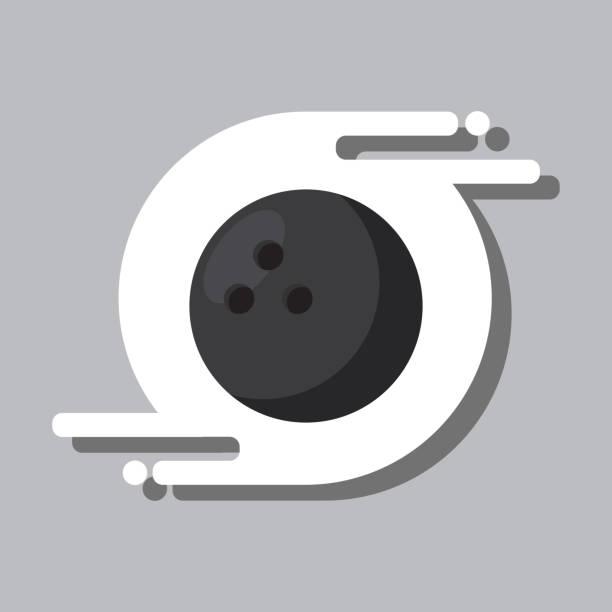 bowling ball sport recreation equipment vector art illustration