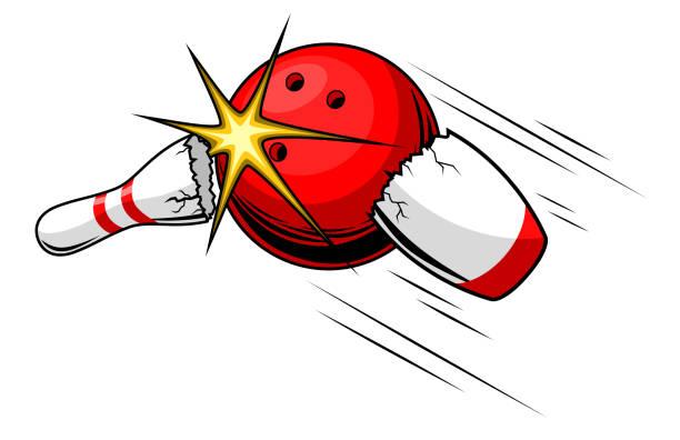 bowling-kugel - spagat stock-grafiken, -clipart, -cartoons und -symbole