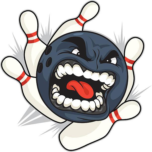 Bowling Ball vector art illustration