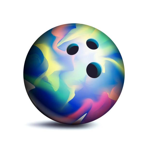 Bowling Ball Vector. Sport Game Symbol. Illustration vector art illustration